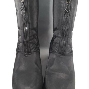 Womens Sporto Zip Front Winter Boots Size 8 1/2M T